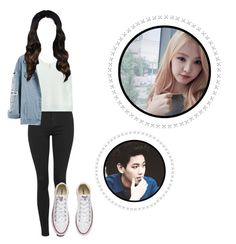 Breakfast w/ Baekhyun by park-luna on Polyvore featuring polyvore fashion style Topshop Converse Accessorize clothing