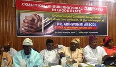 NIGERIAN TOP SECRET: 10 governoship candidates in Lagos step down for A...