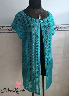 Crochet Summer Air Cardi Vest Free Pattern