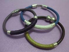 materiales que vamos a hacer una pulsera de cuero con algodn anillas y cierre