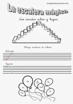 VALDEMÚSICA: PRIMER CICLO Music School, Music Class, Music Education, Music Theory Worksheets, 2014 Music, Writing Portfolio, Music Writing, Music And Movement, Teacher Games