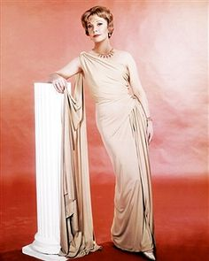 English actress Vivien Leigh (1913 - 1967) wearing a full-length toga-style dress in a promotional portrait for 'The Roman Spring of Mrs. Stone', directed by Jose Quintero, 1961.