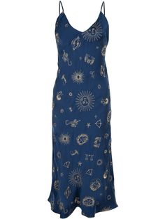The 1996 dress is a 90's style bias cut slip dress with a v-neckline and low scooped back. Made with specially designed zodiac Réalisation embroidered silk satin, this truly is a unique piece. Adjustable straps, no lining.