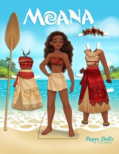 Paper crafts Disney - Free Moana Printable Crafts, Activities and Party Supplies Moana Disney, Walt Disney, Disney Films, Moana Birthday Party, Moana Party, Moana Crafts, Disney Crafts, Paper Dolls Printable, Printable Crafts
