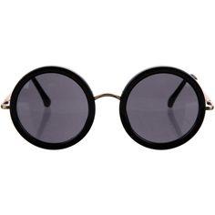 5054dde999b7 Pre-owned The Row x Linda Farrow Leather Circle Sunglasses ( 145) ❤ liked