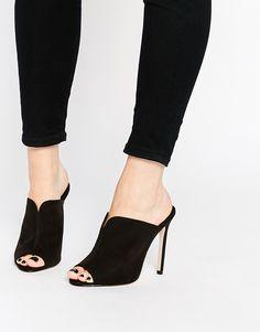 e9ed43ab12d Image 1 of ASOS HALO Mules Black Mules Shoes