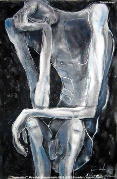 poppins-me: © Oswaldo Guayasamin Ecuador) Acrylic Paint Abstract Portrait, Abstract Art, Arte Obscura, Dark Art Drawings, Arte Horror, Weird Art, Psychedelic Art, Art Plastique, Figurative Art