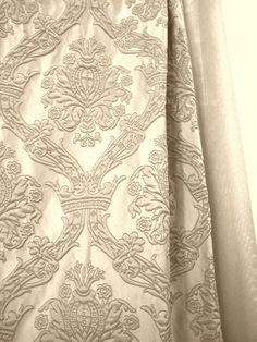 Sandy beige Curtains and Upholstery Fabric jacquard by Eleptolis, $80.00