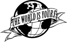 Sticker Scarface The World is Yours - cm - € # Tattoo Designs Tattoo Design Drawings, Tattoo Sleeve Designs, Tattoo Sketches, Sleeve Tattoos, Forarm Tattoos, Dope Tattoos, Tattoos For Guys, Arte Dope, Dope Art