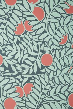 Orange Grove Wallpaper | Anthropologie