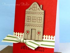 Gingerbread House Card by stampersaurus on Etsy, $3.99