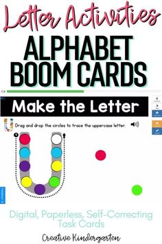 Reinforce uppercase and lowercase letter recognition, letter formation, and letter sounds with hands-on and engaging Boom Card activities. These digital task cards will work on learning to identify and name the letter U. Use this deck for letter of the day, letter of the week or all year to reinforce alphabet knowledge. This pack includes activities for uppercase and lowercase letters, letter discrimination, letter sounds, letter building, and sorting. Alphabet Activities, Hands On Activities, Kindergarten Activities, Kindergarten Centers, Math Centers, Letter Formation, Uppercase And Lowercase Letters, Literacy Skills, Letter Recognition