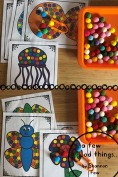 A fun fine motor preschool/toddler activity. Use the tongs to cover each circle with the same color pom pom, beads etc. Infant Sensory Activities, Baby Sensory, Motor Activities, Activities For Kids, Pom Pom Mat, Pom Poms, Preschool Ideas, Preschool Crafts, Crafts For Kids