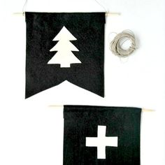 Make these really sweet DIY felt pennants for Christmas decorations, kids rooms, or a wall gallery! Super easy and super cute!