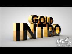 Tutorial Cinema 4D Gold Intro-урок Cinema 4D - YouTube