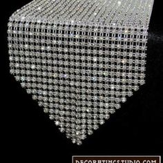 WEDDING: Fred & Sybil - 60th Anniversary Celebration: Rhinestone Table Runner.