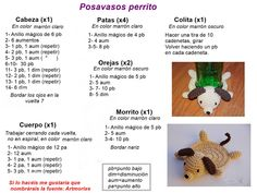 Sous-verres en crochet (avec motif) - Friendly Challenge nº 85 Crochet Coaster Pattern, Crochet Amigurumi Free Patterns, Crochet Animal Patterns, Crochet Doll Pattern, Crochet Animals, Crochet Turtle, Crochet Bookmarks, Crochet Home Decor, Crochet Designs