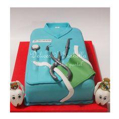 torta odontologo dulzura hecha pastel