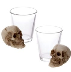 8 x shot glasses with skull great for parties gifts halloween or barbeques bbq