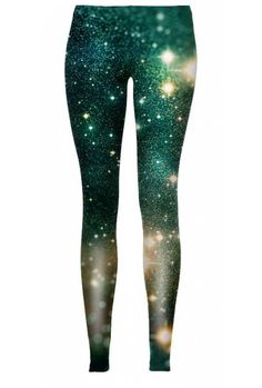 "$38 Shining stars love to be surrounded by a quiet space, which enables meditation. But do not meditate upon buying the ""Glow Planet"" leggings for too long, especially if you like clothes with bright colors."