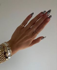 Edgy Nails, Funky Nails, Stylish Nails, Swag Nails, Sophisticated Nails, Funky Nail Art, Nagellack Design, Nagellack Trends, Acylic Nails