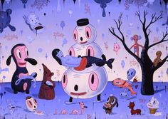 """Gary Baseman   Describe your process of creating a new piece.    """"I dream. I draw. And I draw again. Then I draw again and again. And I see what stays with me. What gives me meaning. Then I start creating a body of work. Does that make sense?"""""""