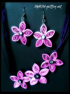 Quilling necklace set 7