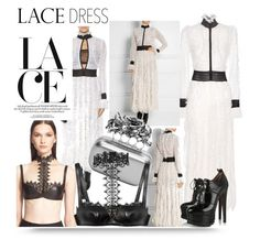 """Lace"" by hellodollface ❤ liked on Polyvore featuring Alexander McQueen, Alaïa and lacedress"