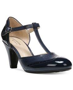 Naturalizer Borrow T-Strap Pumps - Heels - Shoes - Macy's