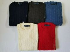 Chic Polo Ralph Lauren Men's CABLE KNIT Crew Neck Sweater Sweatshirt XXL Great Gift polo sweater from top store Polo Sweater, Men Sweater, Cable Knit Sweaters, Polo Ralph Lauren, Crew Neck, Sweatshirts, Gift, Pony, Chic