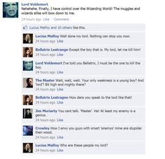 If the villains had Facebook...