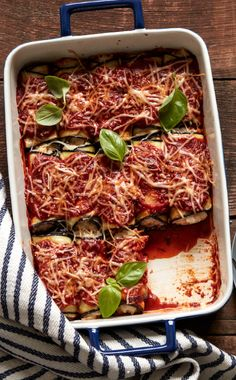 Meatless Monday never looked so good! Bring out this Eggplant Rollatini as it makes for the perfect weeknight meal and doubles as an epic leftover lunch! Vegetarian Recipes Easy, Lunch Recipes, Cooking Recipes, Healthy Recipes, Vegetable Side Dishes, Vegetable Recipes, Italian Dishes, Italian Recipes, Rollatini