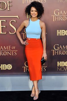 Nathalie Emmanuel In Mugler – 'Game of Thrones' Season 5 Premiere
