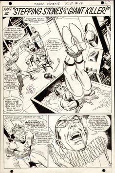 Gil Kane & Wally Wood 1968 Teen Titans #19, page 19 - 2/3 Splash Comic Art