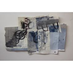Jane Cornwell 2013 blue riffs #collage #gouache