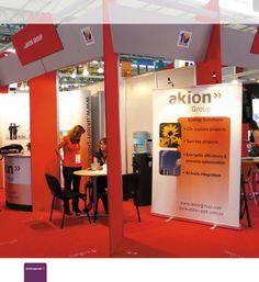 Diseño y Producción de Estructura para Exposiciones/Stands desplegable y portátil para Akion