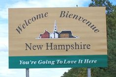 New Hampshire - this sign is followed closely by the one asking you to drive with courtesy - it's the New Hampshire way :-)