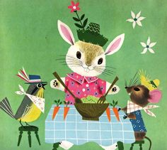 Funny Bunny by Rachel Learnard, pictures by Alice and Martin Provensen ~ Simon and Schuster, 1950