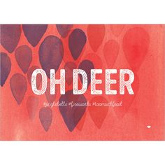 Oh deer - Beautiful christmas card with a unique design. Visit our site on http://www.withloov.be/product-categorie/kaartjes/kerst-nieuwjaar/ Withloov