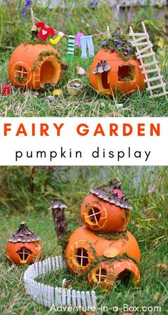 Build fairy houses from pumpkins and put together a pumpkin fairy garden for Halloween display this year! fairy garden ideas Pumpkin Fairy Garden for Halloween Display Halloween Fairy, Halloween Pumpkins, Halloween Crafts, Halloween Decorations, Halloween House, Autumn Crafts, Fall Crafts For Kids, Pumpkin Fairy House, Pumpkin Garden