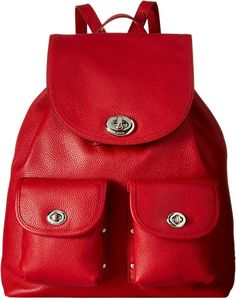 COACH Women's Denim Color Block Turnlock Rucksack >>> Quickly view this special product, click the image : Backpacking bags