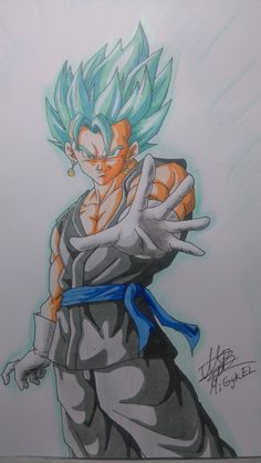 Vegetto super saiyan god super. checa mi canal para ver el Speed drawing. Check my YouTube chanel for tutorials and speed drawings