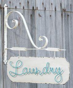 Look at this #zulilyfind! 'Laundry' Wall Sign #zulilyfinds