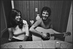 bruce with guitar and his ex-girlfriend diane lozito back in the early 70s i don't know why but young bruce is so lovable…