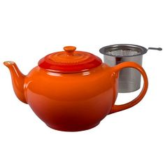 Le Creuset Stoneware Large Teapot with Stainless Steel Infuser Flame -- Click image for more details.Note:It is affiliate link to Amazon.