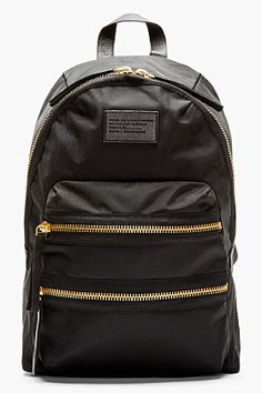 Marc By Marc Jacobs Black & Gold Domo Arigato Packrat Backpack for women | SSENSE