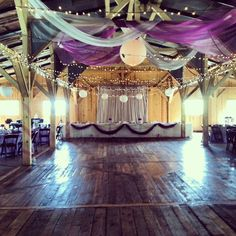 Gabriella + Logan | 8.10.13 | Wedding at Willow Creek Glass Chapel & Banquet Barn | Dance floor in front of head table