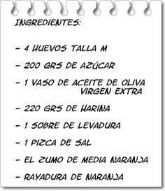 Ingredientes Magdalenas Caseras Fáciles