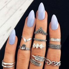 45 Pointy Almond Nail Designs worth Trying Nail Design, Nail Art, Nail Salon, Irvine, Newport Beach