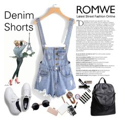 """""""Denim Shorts"""" by manuelsbolli ❤ liked on Polyvore featuring Balmain"""